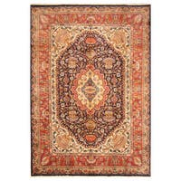 Handmade Herat Oriental Persian Hand-Knotted Kashmar Wool Rug - 8'2 x 11'8