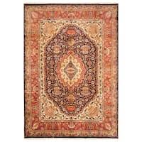 Handmade Herat Oriental Persian Hand-Knotted Kashmar Wool Rug (8'2 x 11'8) - 8'2 x 11'8