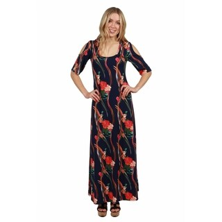 24/7 Comfort Apparel Alicia Maxi Dress