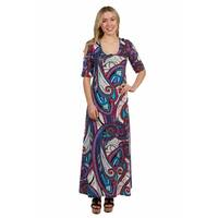24/7 Comfort Apparel Shannon Maxi Dress