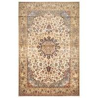 Handmade Herat Oriental Persian Hand-Knotted Isfahan Wool Rug (10'3 x 16'1) - 10'3 x 16'1