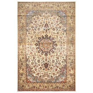 Handmade Herat Oriental Persian Hand-Knotted Isfahan Wool Rug (10'3 x 16'1)