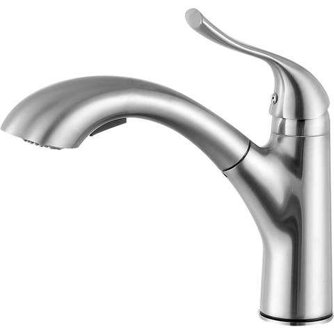 ANZZI Di Piazza Single Handle Standard Kitchen Faucet in Brushed Nickel