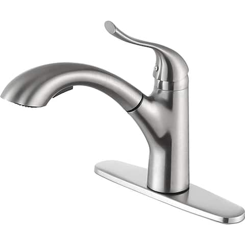 ANZZI Navona Single Handle Standard Kitchen Faucet in Brushed Nickel