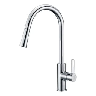 ANZZI Serena Single Handle Pull-Down Sprayer Kitchen Faucet in Polished Chrome - Polished chrome