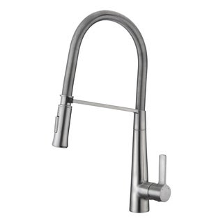 Link to ANZZI Apollo Single Handle Pull-Down Sprayer Kitchen Faucet in Brushed Nickel Similar Items in Faucets