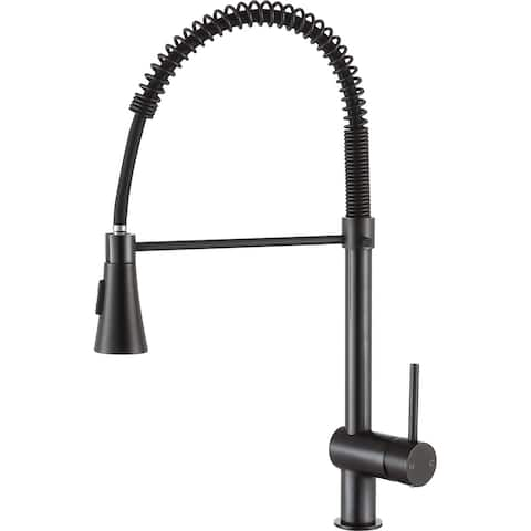 ANZZI Carriage Single Handle Pull Down Kitchen Faucet in Oil Rubbed Bronze