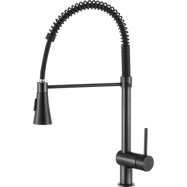ANZZI Carriage Single Handle Pull Down Kitchen Faucet in Oil Rubbed Bronze. Opens flyout.