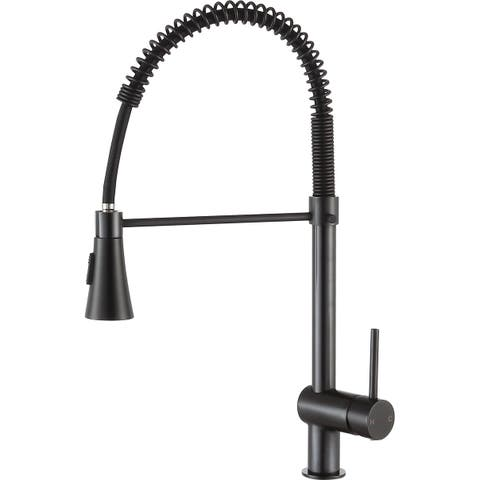 ANZZI Carriage Single Handle Pull Down Kitchen Faucet in Oil Rubbed Bronze - Brushed nickel