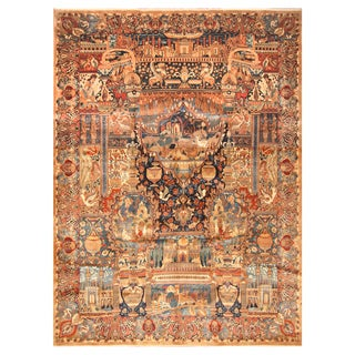 Handmade Herat Oriental Persian Hand-Knotted Kashmar Wool Rug (9'10 x 13'5)