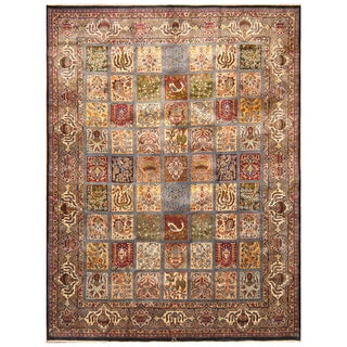 Handmade Herat Oriental Persian Hand-Knotted Kashmar Wool Rug (9'9 x 12'5)
