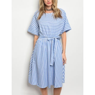 JED Women's Striped Cotton Knee Length Casual Dress (2 options available)