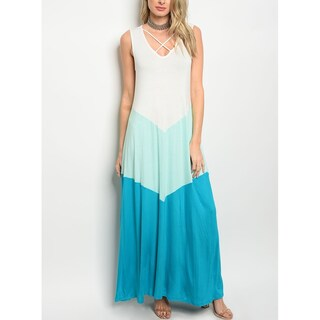 JED Women's Sleeveless Colorblock Maxi Dress (5 options available)