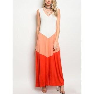 JED Women's Sleeveless Colorblock Maxi Dress