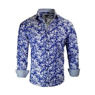 Men's Floral Modern-Fit Dress Shirt (2 options available)