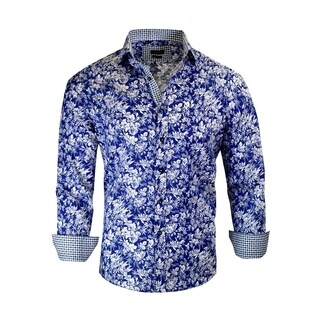 Men's Floral Modern-Fit Dress Shirt