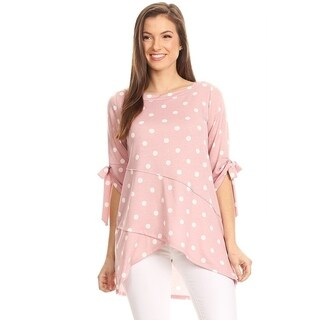 Women's Polka Dot Tiered Sleeve Tunic