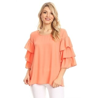 Women's Solid Tiered Layer Tunic