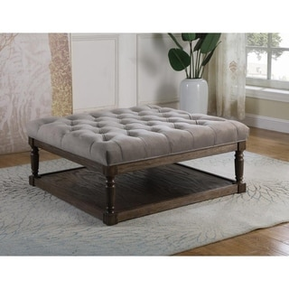 Link to Best Master Furniture Smoked Upholstered Cocktail Ottoman Similar Items in Living Room Furniture
