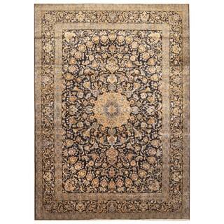 Handmade Herat Oriental Persian Hand-Knotted Isfahan Wool Rug (10'2 x 14') - 10'2 x 14'