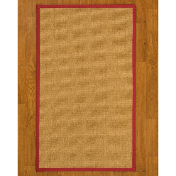 delightful Latex Backed Throw Rugs Part - 7: Natural Area Rugs Largo Natural-Red Sisal Nonslip Latex Backing Area Rug  (4u0026#