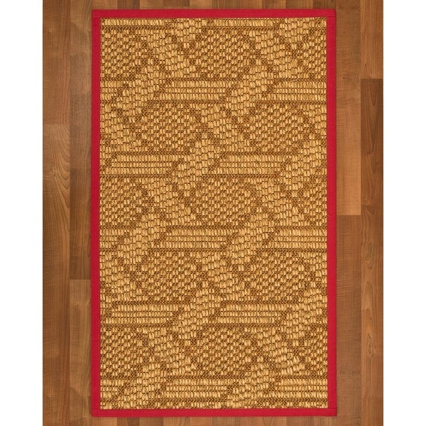Natural Area Rugs Seattle Red Sisal Nonslip Latex Backing Handmade Rug 4