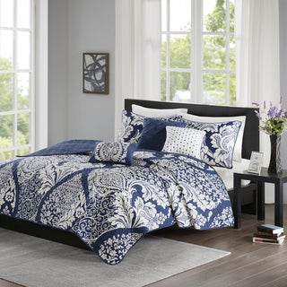 Madison Park Marcella Indigo 6-piece Coverlet Set