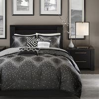 Madison Park Crawford Black 6-piece Duvet Cover Set