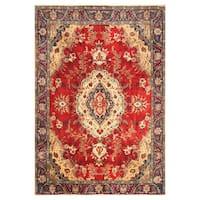 Handmade Herat Oriental Persian Hand-Knotted Tabriz Wool Rug - 9' x 12'7 (Iran)