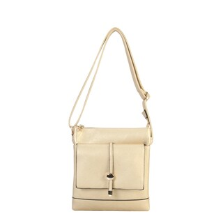 Diophy Front Flap Pocket Multi Spaced Cross Body Handbag - M