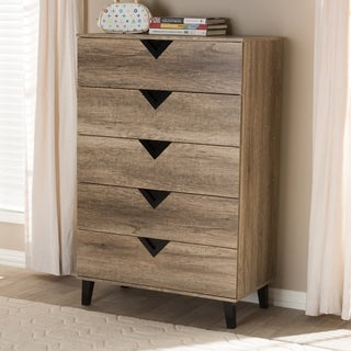 Contemporary 5-Drawer Chest by Baxton Studio