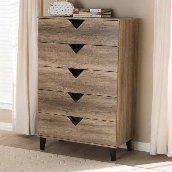 Carson Carrington Dragor Contemporary 5 Drawer Chest by Carson Carrington