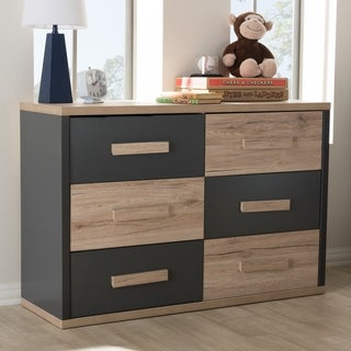 Contemporary Two-Tone 6-Drawer Dresser by Baxton Studio