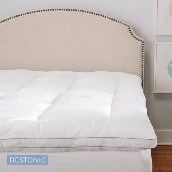Restonic Deluxe 3-inch Memory Foam and Fiber Hybrid Mattress Topper