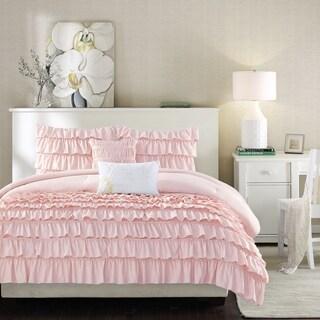 Intelligent Design Demi Blush 5-piece Ruffle Comforter Set