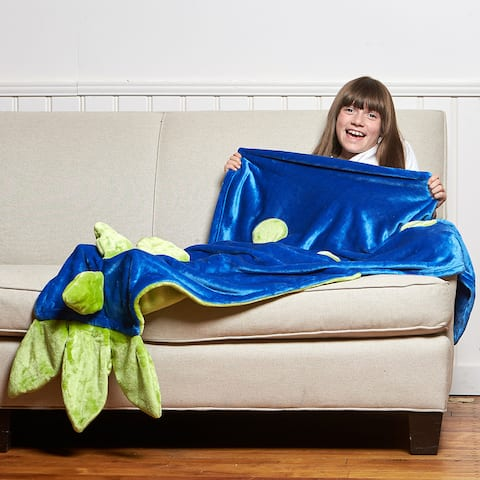 Berkshire Blanket Cuddly Buddies Dinosaur Footie Throw
