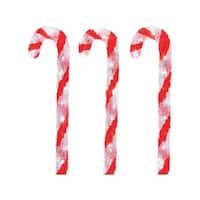 Illumax  LED Candy Canes  Christmas Decoration  Red/White  Acrylic  23-9/16 in.