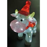 Celebrations  LED Cow  Christmas Decoration  Multicolored  Acrylic  11-13/16 in.