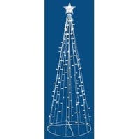 Sienna  Twinkle String Tree  Christmas Decoration  White  Metal  7 ft.