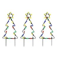 Product Works Pathway Tree Christmas Decoration Multicolored Metal frame 15-3/4 in. x 8-7/8 in. x 2-3/4 in.