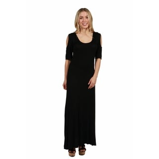 24/7 Comfort Apparel Meg Maxi Dress