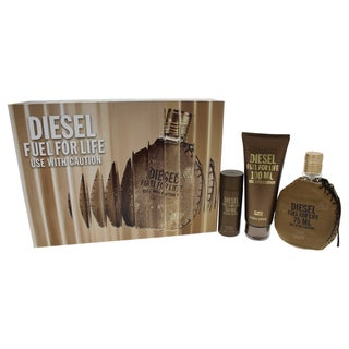 Diesel Fuel For Life Pour Homme Men's 3-piece Gift Set