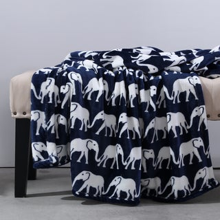 Berkshire Blanket Majestic Elephant Velvet Loft Throw