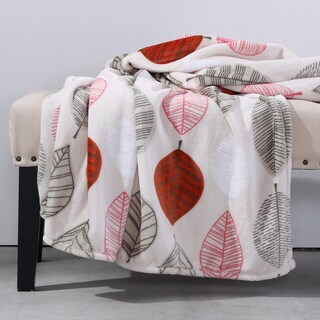 Berkshire Blanket Autumn Leaves VelvetLoft Throw