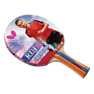 Butterfly RDJ S3 Table Tennis Racket  ITTF Approved Ping Pong Paddle  Great Spin, Speed, and Control - Multi-color