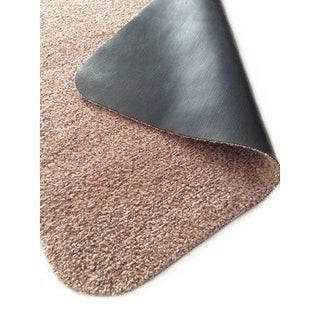 Rismat Magic Mat, Non Slip Rubber Backing, Traps Mud & Dirt, Beige