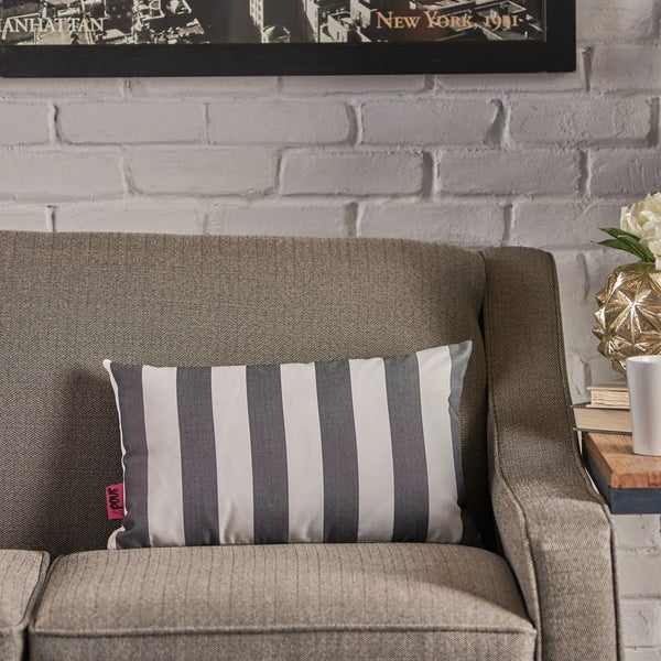 Megumi Rectangle Striped Pillow by Christopher Knight Home