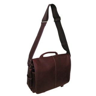 Amerileather 'Woody' Leather 15-inch Laptop Messenger Bag (Option: Bordeaux)