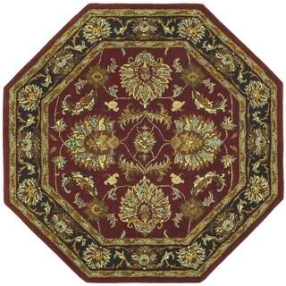 Hand-tufted Agra Wool Rug (8' Octagon) - 8' x 8'