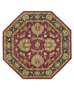 Hand-tufted Agra Wool Rug (8' Octagon)